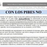 """SUTEBA interpela a Festa: """"En ocho meses solo se han comprado cuatro heladeras"""""""