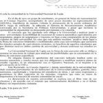 Comunicado oficial de la Universidad Nacional de Luján