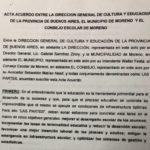 Acta Acuerdo Municipio de Moreno y Provincia de Buenos Aires