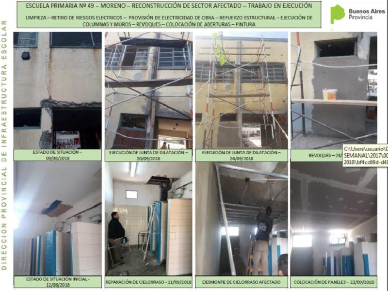 Edificios escolares en reparación (Parte I)