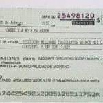 Un cheque para la calle Portugal