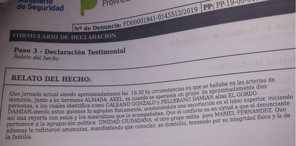 """Violencia interna: Jorge """"Pol"""" Almada denuncia que fue atacado y actuó en defensa propia"""