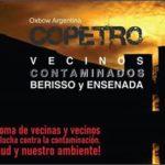 Movilización de vecinos contaminados de Berisso, Ensenada y La Plata