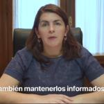 Mariel Fernández habla a la población