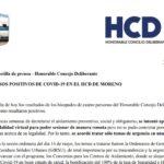 Casos positivos: comunicado oficial del Concejo Deliberante