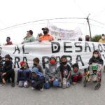 Marcha conjunta de tomas de tierras a Plaza de Mayo en reclamo de tierras para vivir