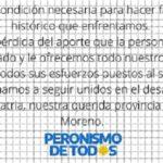 El Peronismo de Todos reconoce y agradece a Coco Lombardi