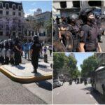 Represión conjunta de Gendarmería y Policía de la Ciudad contra miles de personas en la despedida a Maradona