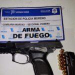 Arma y marihuana